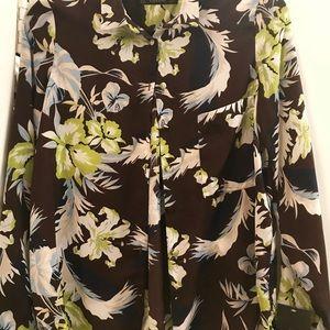 NWT Zara tropical print shirt. S